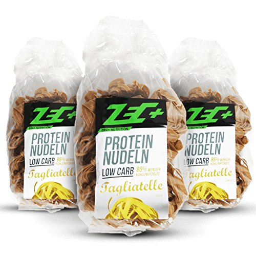 ZEC+ PROTEIN Low Carb NUDELN 3er Pack – 3 x 250g MADE IN GERMANY
